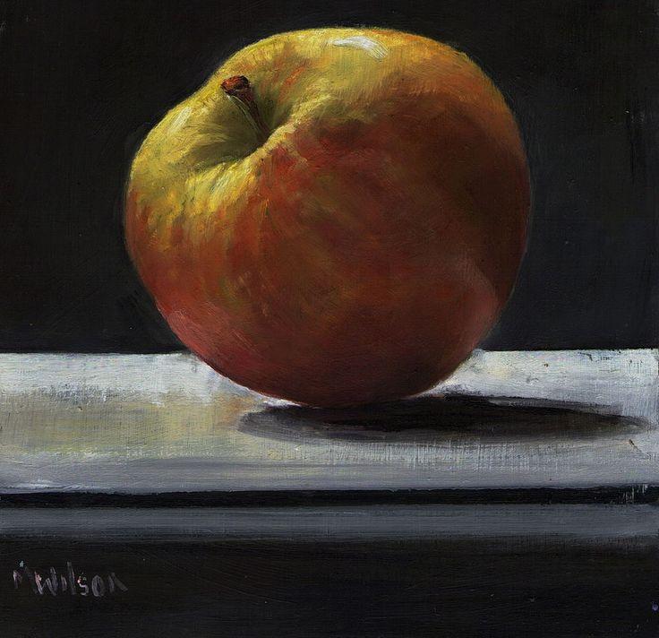 Oil Painting/ Marjorie Wilson/ Still Life-  Apple on the Shelf