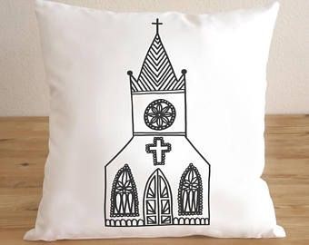 Christmas Gifts Decorative Pillow Cover - Free Shipping - Christian Church, Gifts For Her - Home Decoration -Throw Pillow Cover - Cushion