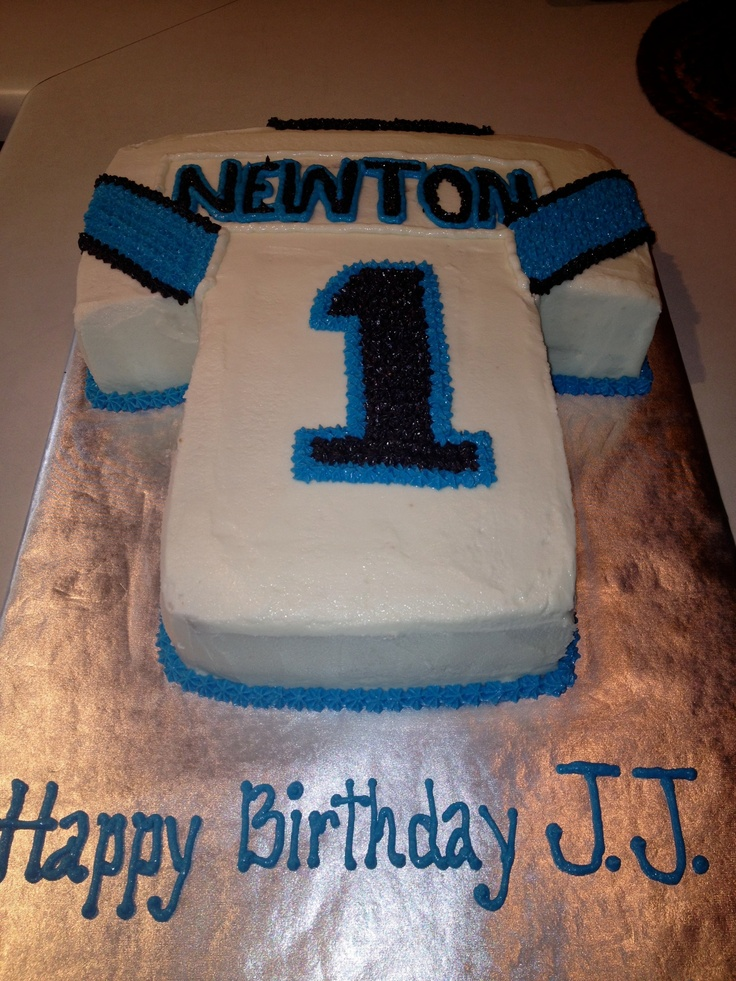 Carolina Panthers Newton jersey cake