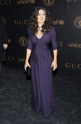 """Salma Hayek  The Mexican superstar was in no hurry to take the weight off, telling Oprah that she believes women should give themselves the same nine months to lose weight as it took to gain it.   After suffering from gestational diabetes, Salma told Oprah that she got her body back thanks to Diet Designs--a program founded in Los Angeles by nutritionist to the stars Carrie Wiatt. Her only regret? Not being able to lose the weight with breastfeeding: """"Except for a couple of exceptions, the o"""