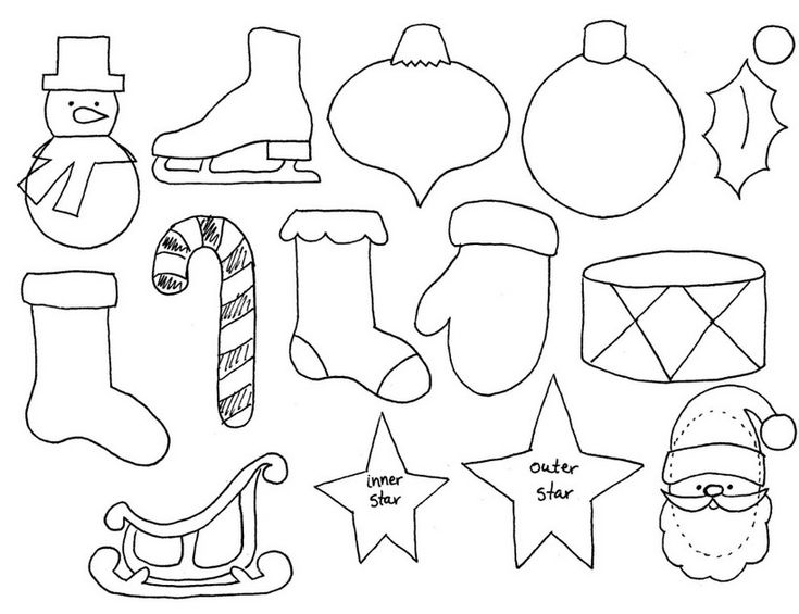 Ёлочные игрушки из фетра. Выкройки (30)