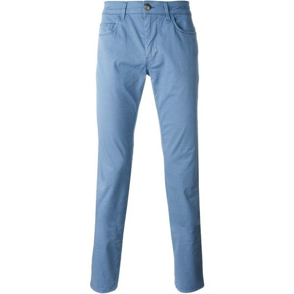 Fay chino trousers (€92) ❤ liked on Polyvore featuring men's fashion, men's clothing, men's pants, men's casual pants, blue, mens chinos pants, mens blue pants, mens chino pants and mens blue chino pants