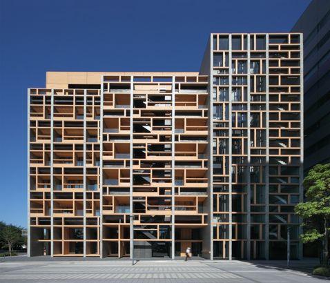 Façades Confidential: Mokuzai Kaikan: Japanese timber revisited in Tokyo