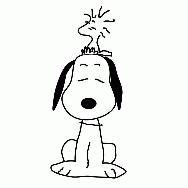 Ms de 25 ideas increbles sobre pginas de Snoopy para colorear