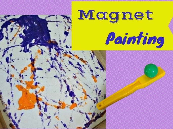 Painting with magnets - fun science and art combined!