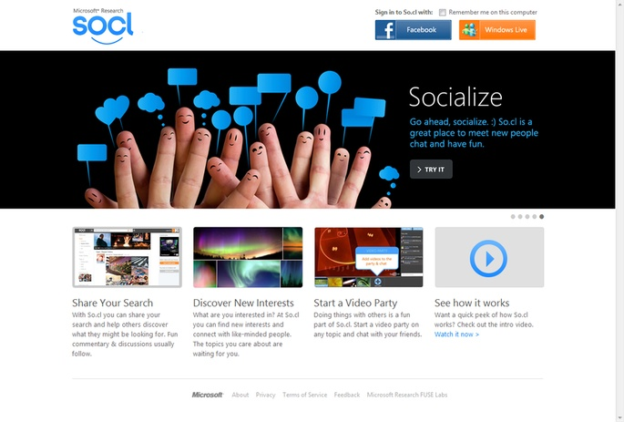 Microsoft launches its new Search and Social Network hybrid: so.cl
