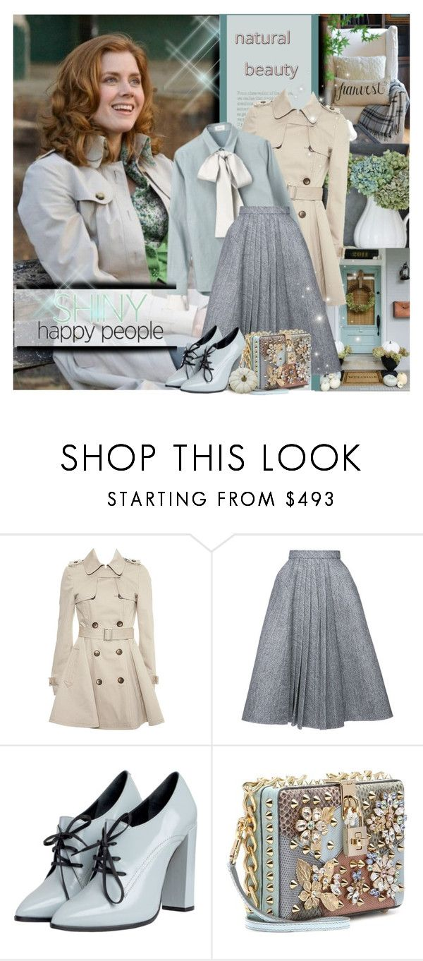 """""""Falling into Fall 2017 / Shiny Happy People"""" by mrswomen ❤ liked on Polyvore featuring Topshop, THE RERACS, Dice Kayek and Dolce&Gabbana"""