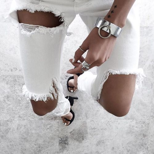Find the perfect pair of white jeans on ShopStyle.