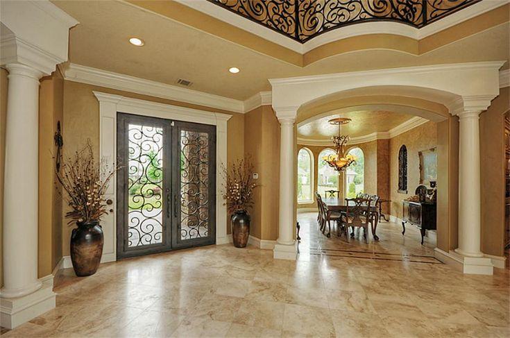Travertine Foyer Design : Best foyer floors travertine or black white marble