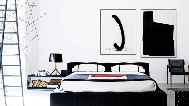 "Why You Need Black and White Abstract Art  Check out my black and white painting ""Bow Tie"" in this feature......in Shop the Look!"