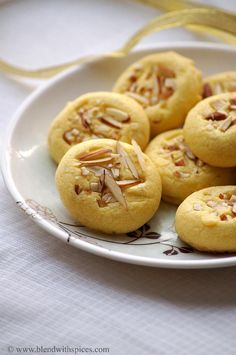 Eggless Saffron Cookies Recipe ~ Diwali Special Eggless Cookies | Indian Cuisine