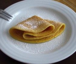 Image of Crepes with lemon and sugar   Food From Portugal