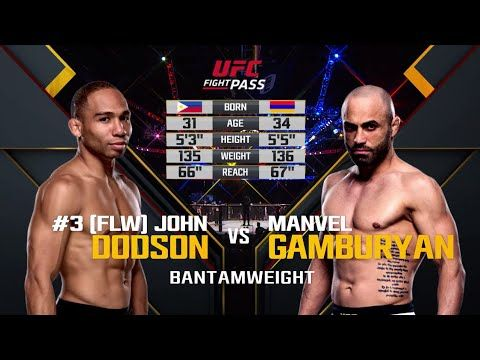 UFC (Ultimate Fighting Championship): Fight Night Portland Free Fight: John Dodson vs Manvel Gamburyan