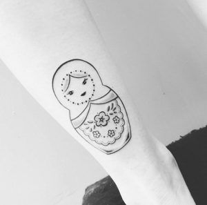 Russian nesting doll tattoo by Noam Yona