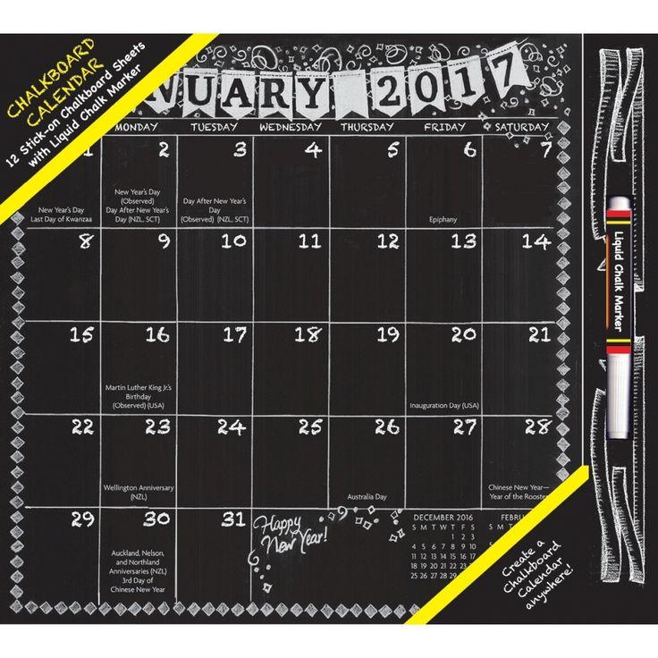 Chalkboard Calendar Walmart : Best homemade calendars images on pinterest