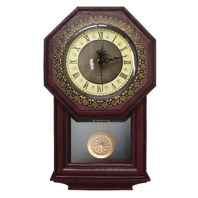 Giftgarden Vintage Wall Clock Pendulum Antique Style Roman Numerals Grandfather Clock Home Decoration Accesso Wall Clock Vintage Wall Clock Pendulum Wall Clock