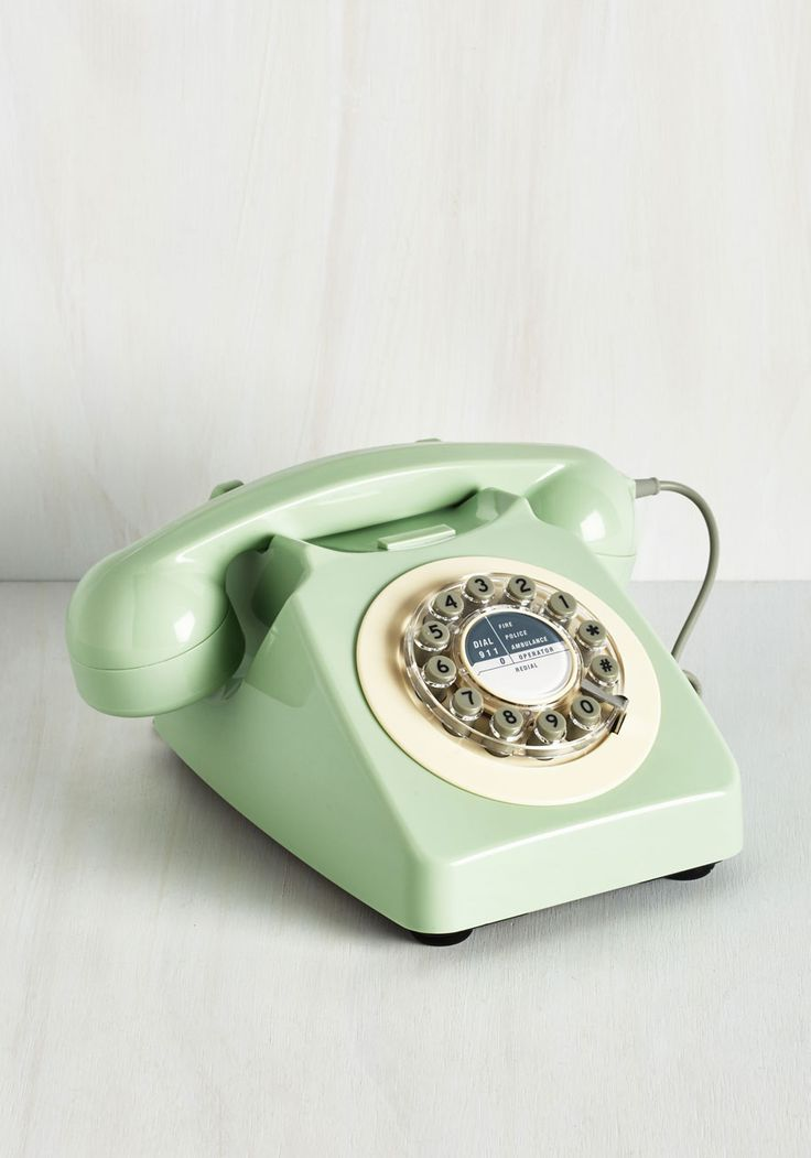 Office & Desk Accessories - Ring True Desk Phone in Sea Green