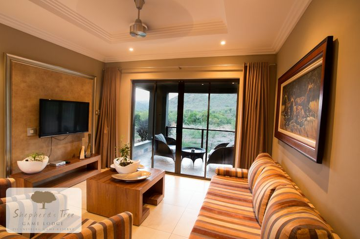 Executive Room Lounge ~ Shepherd's Tree Game Lodge ~ www.shepherdstree.co.za