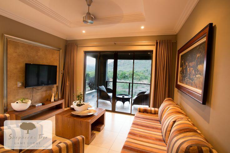 Executive Room Lounge ~ Shepherd's Tree Game Lodge ~ www.shepherdstree.co.za