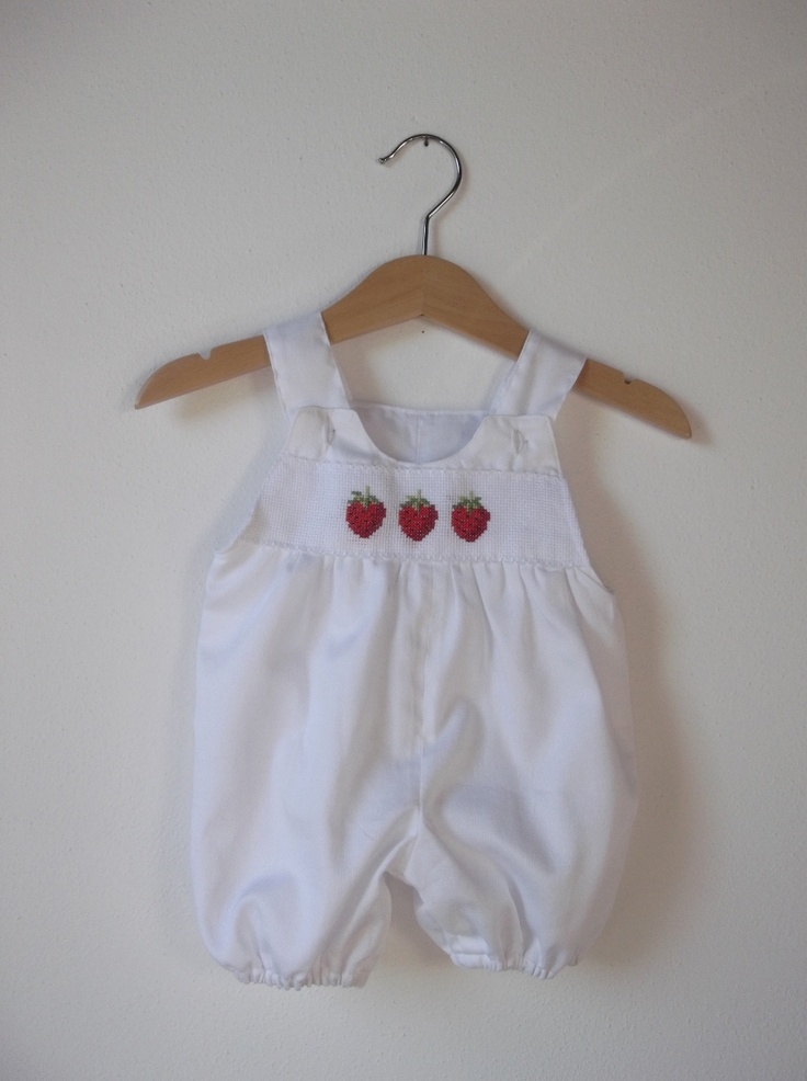 rompers with strawberries