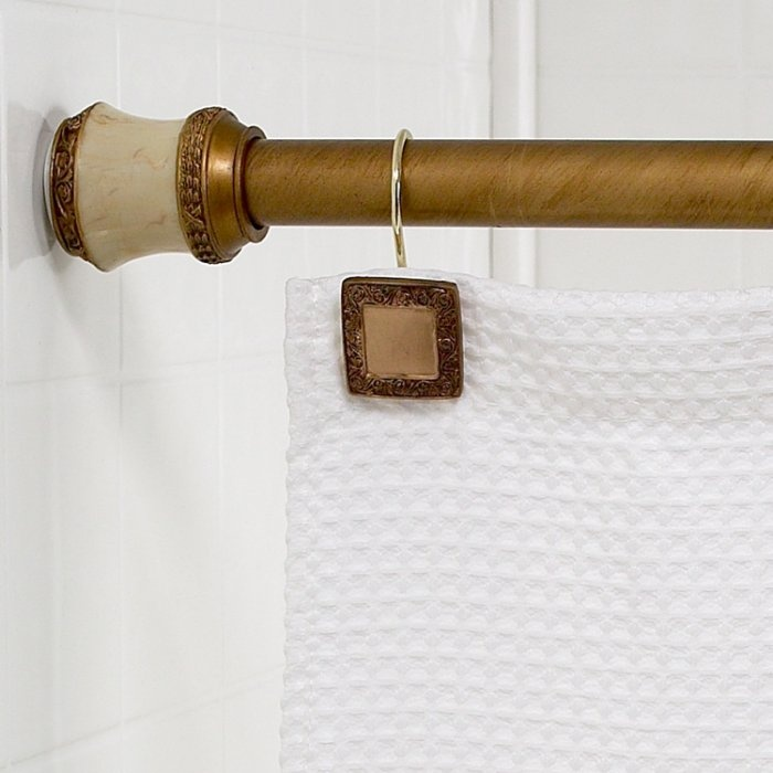 evelyn shower curtain tension rod lakewood gold house ideas modern bathroom. Black Bedroom Furniture Sets. Home Design Ideas