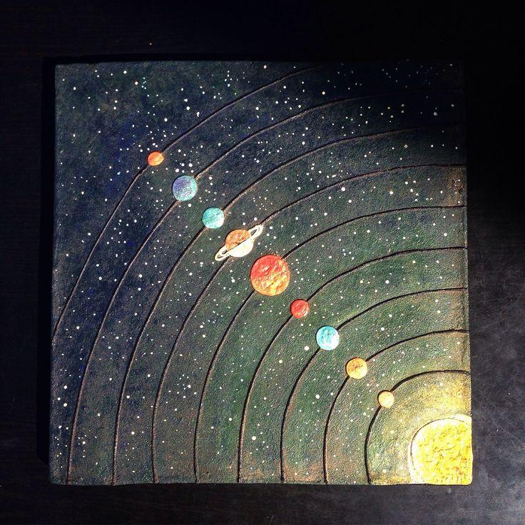 """Купить Настенное панно """"Космос"""". 30*30 - космос, солнечная система, солнце, планеты, звезды"""