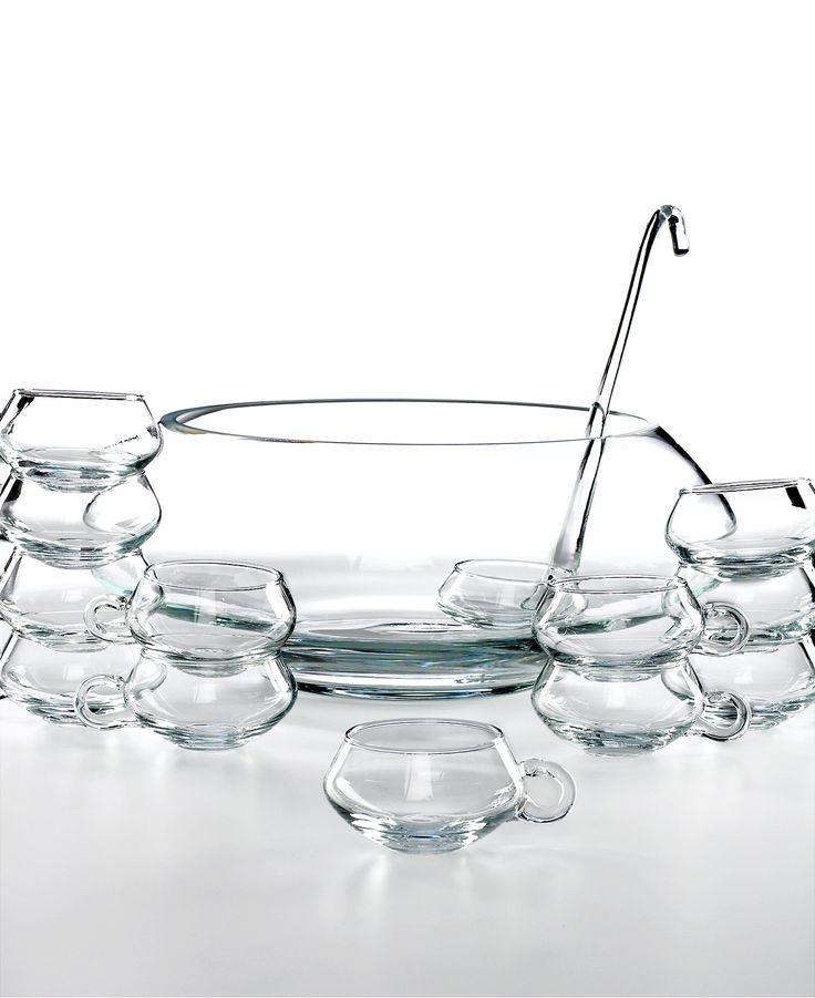 Libbey Glassware, Moderno 14 Piece Punch Bowl Set - Serveware - Dining & Entertaining - Macy's
