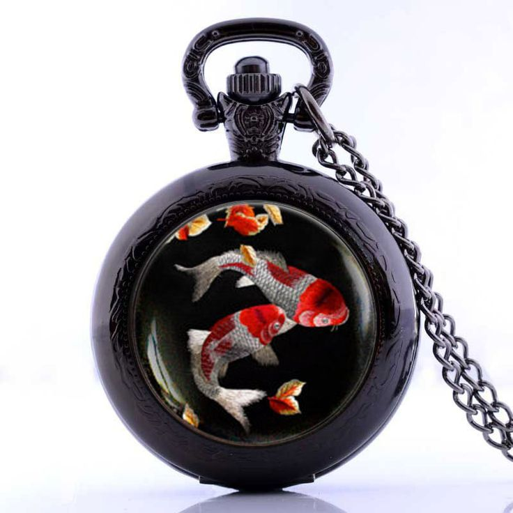 Koi Pocket Watch Necklace //Price: $13.84 & FREE Shipping //     {#ethnic #fashion #style #traditional |#indian #beautiful #unique| #love #shopping | #ethnicwear #etnik |#vintage #dress | #bohochic #indianwear| #art  #hippie |#beauty #fashion | #sale #design |#onlineshopping #accessories | #Indean #Japanese #african
