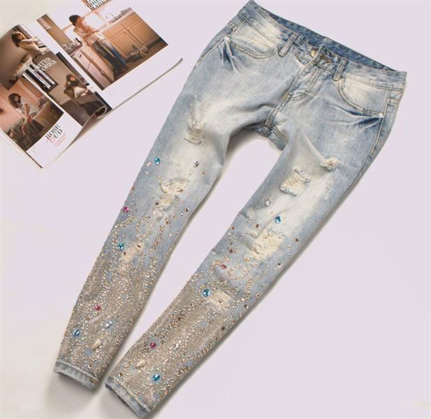 Купить вышитые джинсы