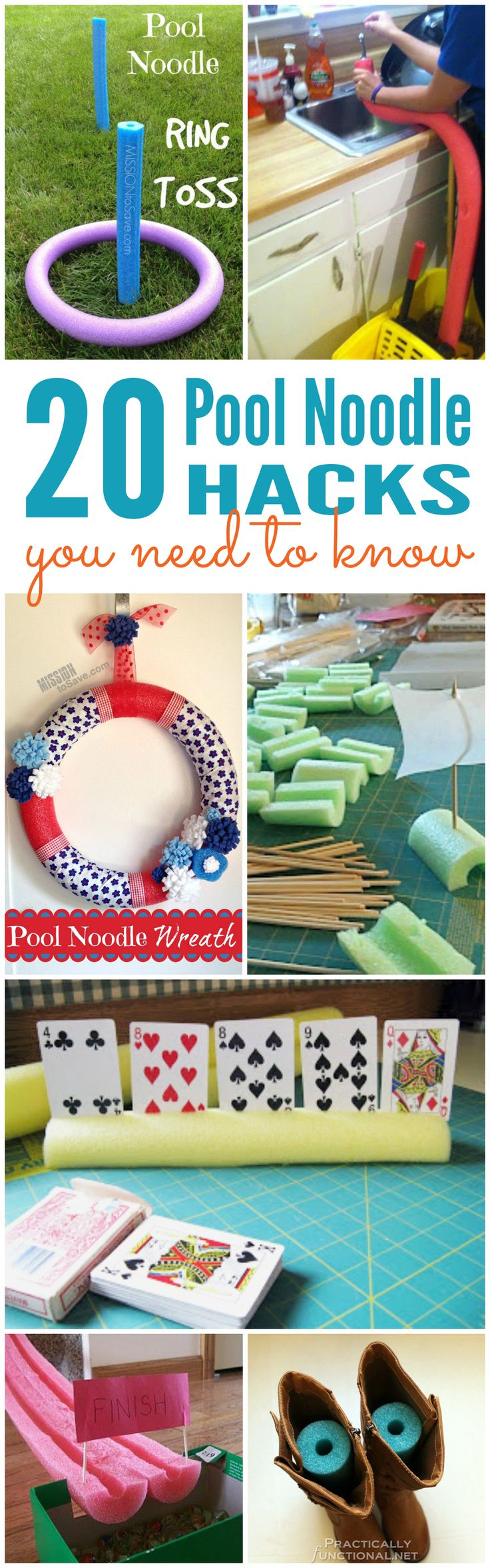 20 Pool Noodle Hacks! FUN Summertime tips and tricks!