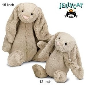 "Amazon.com: Bashful Large Beige Bunny 15"" by Jellycat: Toys & Games"
