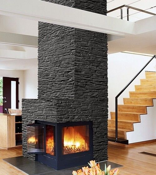 Love this Fireplace it's so modern.