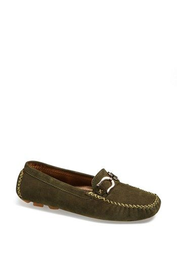 LATINASREPRISE 'Baltimore' Moccasin Flat available at #Nordstrom (olive green)