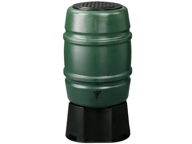 Kunststoff Regentonne Harcostar grün 168 Liter auf Fuβ.