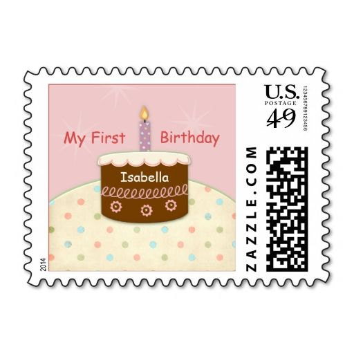 303 best 1st Birthday Postage Stamps images on Pinterest - birthday cake card template