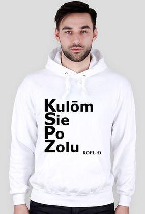 Kocham Śląsk: Bluza z kapturem z napisem po śląsku: Kulom Sie Po Zolu