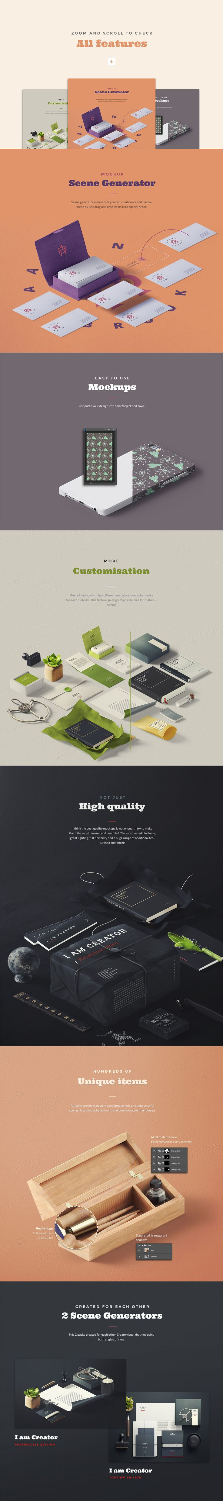I Am Creator [Perspective Edition] #design Download: https://creativemarket.com/ruslan_latypov/302545-I-Am-Creator-Perspective-Edition?u=ksioks