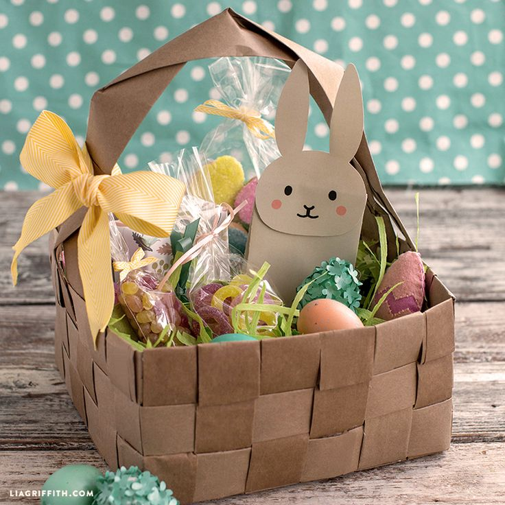 137 best easter containers images on pinterest easter bunny upcycled large diy easter basket negle Choice Image