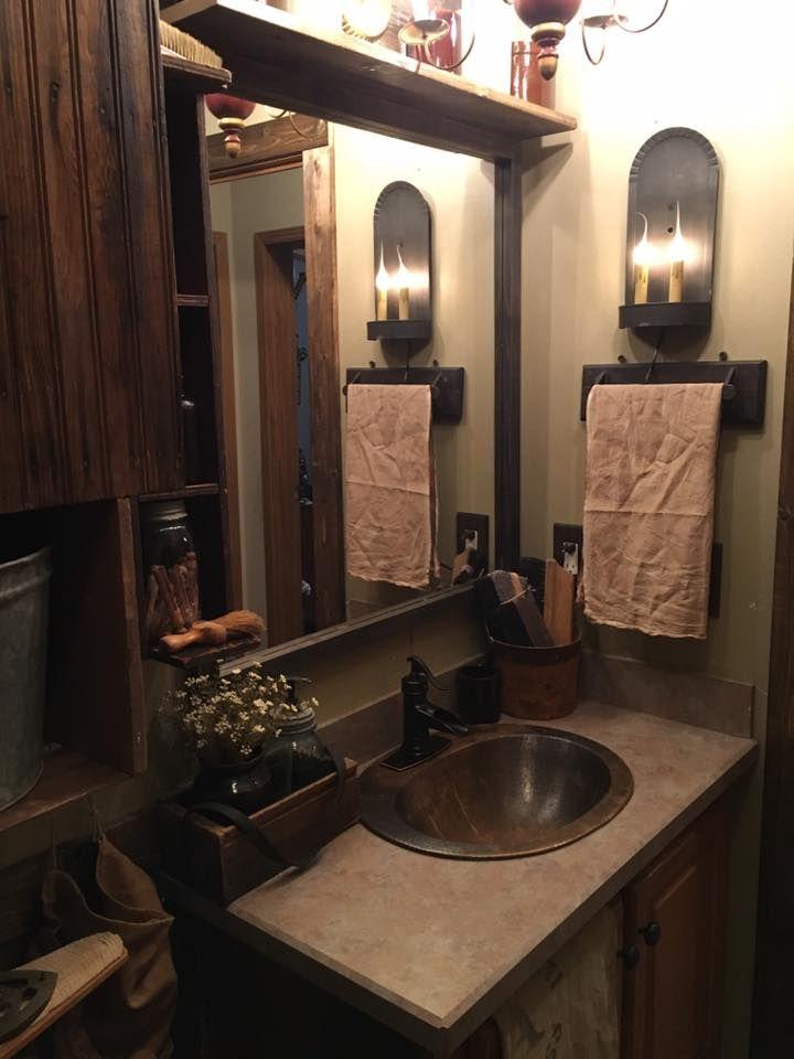 263 best Primitive bathroom images on Pinterest | Prim ...