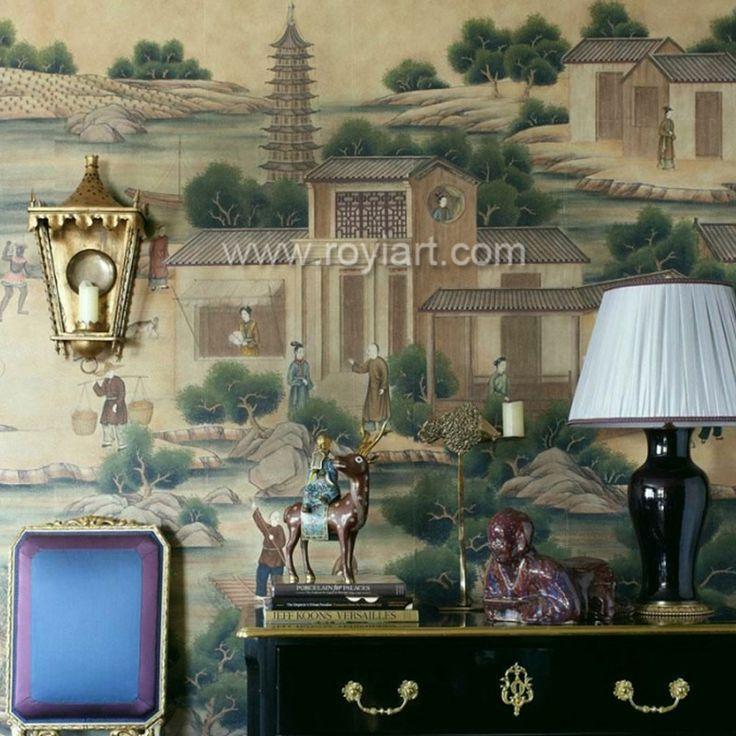 Chinoiserie hand painted wallpaper and embroidered wallpaper by ROYI ART, View hand painted wallpaper, ROYI ART Product Details from Xiamen Royi Art Co., Ltd. on Alibaba.com