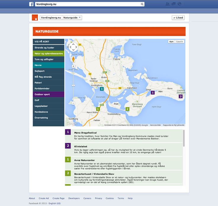 In nature guide on Facebook you can explore the area's many outdoor activities.