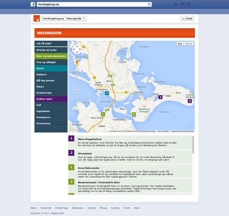 I naturguiden på Facebook kan man gå på opdagelse i områdets mange udendørsaktiviteter.
