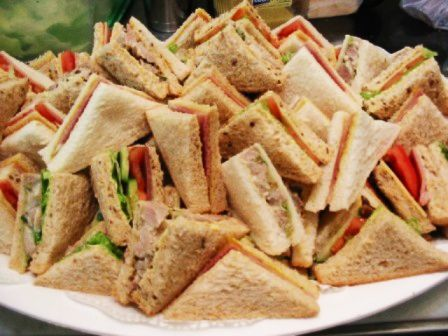 Sandwich platters for kids - rather than the fancy sandwiches what about vegemite, cheese, jam, honey.
