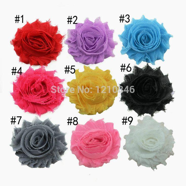 След Mini потертый потёртый цветы шифоновая ткань чародей волосы аксессуары платье / обувь аксессуары 30 pcs/lot
