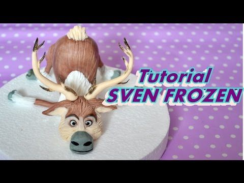 HOW TO MAKE SVEN FROZEN CAKE TOPPER FONDANT - TUTORIAL RENNA PASTA DI ZUCCHERO TORTA - YouTube