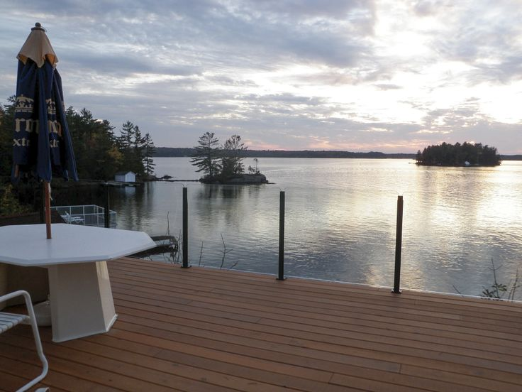 Infinity Balustrade System overlooking a lake