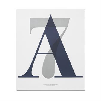 In love with typography 1 Poster - A7 - Playtype