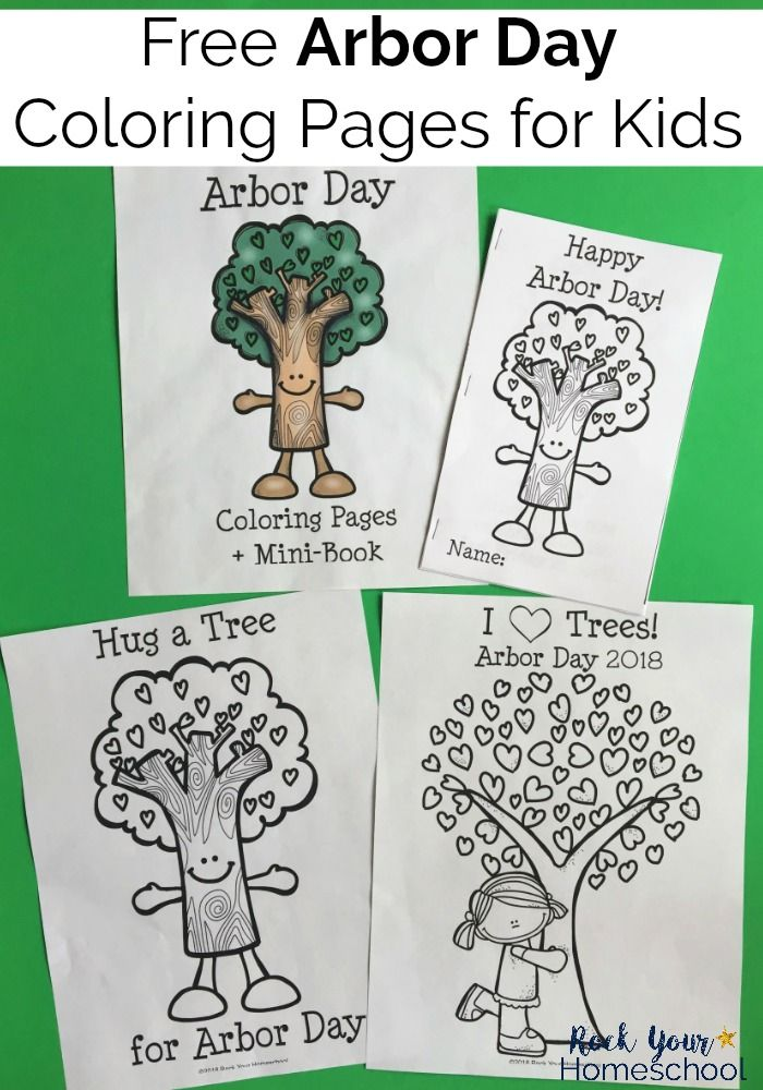 Free Amp Fun Arbor Day Coloring Pages For Kids Rock Your