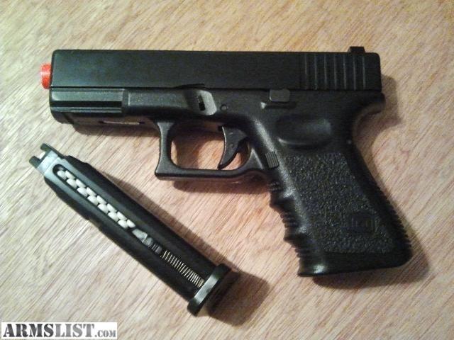 ARMSLIST - For Sale: kj works Glock 23 airsoft gun w/ metal slide + 750 6mm BB's