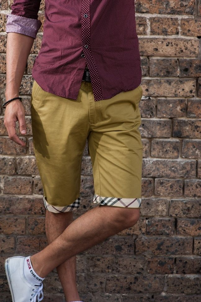 Men's Slim Fit Chino Shorts – Mustard Yellow. $49.95  http://sieteclothingco.com.au/shop/mens-shorts/